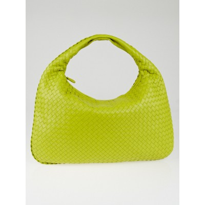 Bottega Veneta New Chartreuse Intrecciato Woven Nappa Leather Large Veneta Hobo Bag