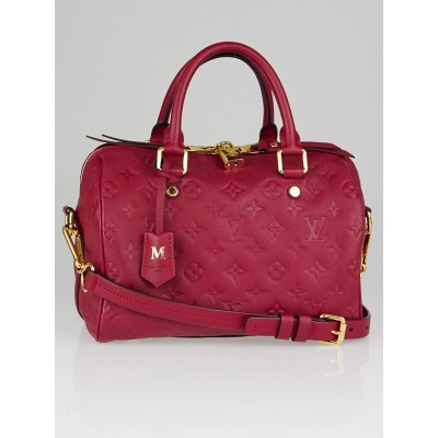 Louis Vuitton Rose Jaipur Monogram Empreinte Leather Speedy 25 Bag