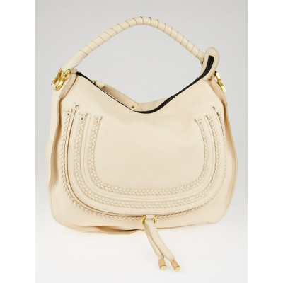 Chloe Pale Pink Leather Braided Marcie Large Bag