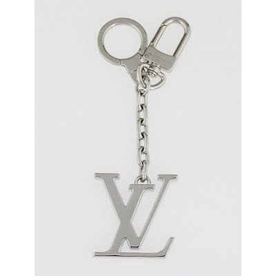 Louis Vuitton Palladium Plated LV Initiales Key Holder and Bag Charm