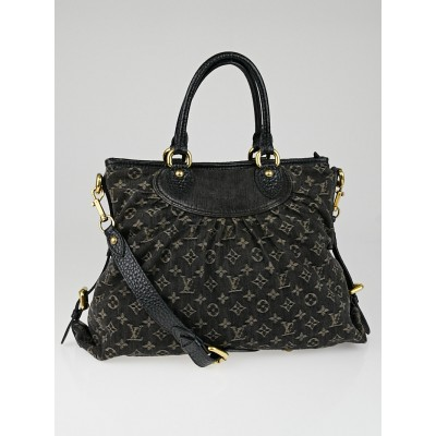 Louis Vuitton Black Denim Monogram Denim Neo Cabby MM Bag