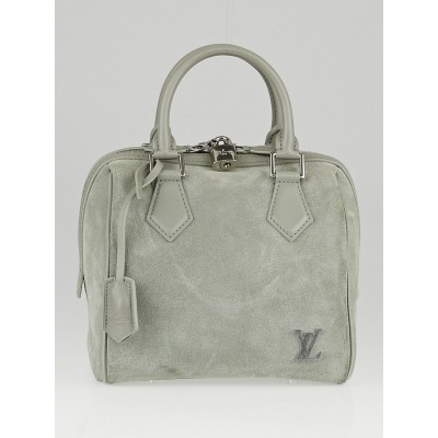 Louis Vuitton Limited Edition Grey Suede Illusion Speedy Cube PM Bag