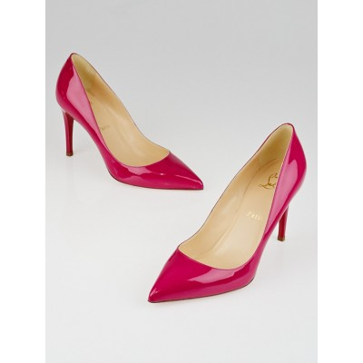 Christian Louboutin Grenadine Patent Leather Pigalle 85 Pumps Size 7.5/38