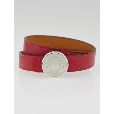 Hermes Rubis Swift Leather Clou de Selle Double Tour Bracelet