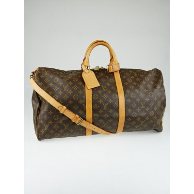 Louis Vuitton Monogram Canvas Keepall Bandouliere 55 Bag