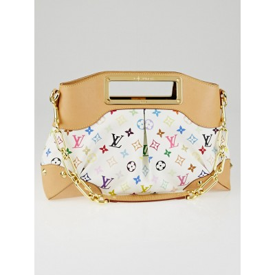 Louis Vuitton White Monogram Multicolore Judy MM Bag