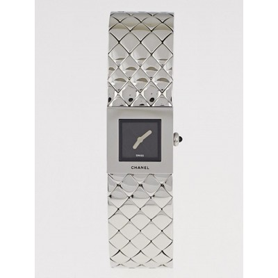 Chanel 18mm Quilted Stainless Steel Matelasse Quartz Watch