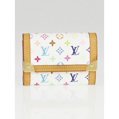 Louis Vuitton White Monogram Multicolore Porte-Monnaie Plat