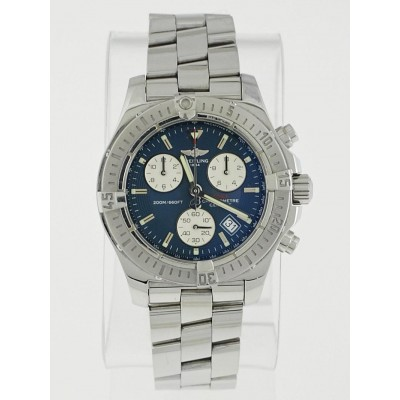 Breitling 41mm Stainless Steel Blue Colt Chronograph SuperQuartz Watch A73380