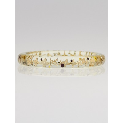 Louis Vuitton Clear Resin Monogram Inclusion TPM Bracelet