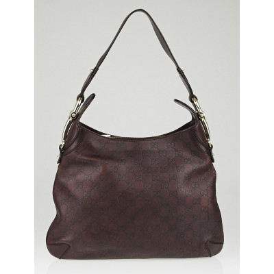Gucci Brown Guccissima Leather Horsebit Creole Hobo Bag