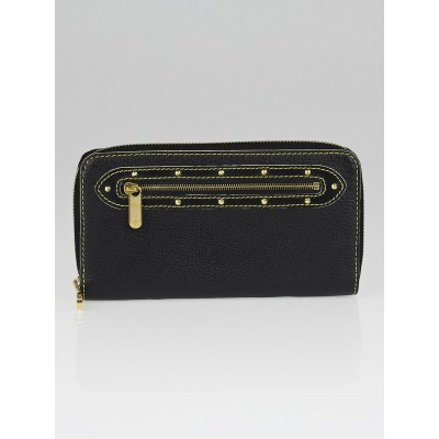 Louis Vuitton Black Suhali Leather Zippy Wallet