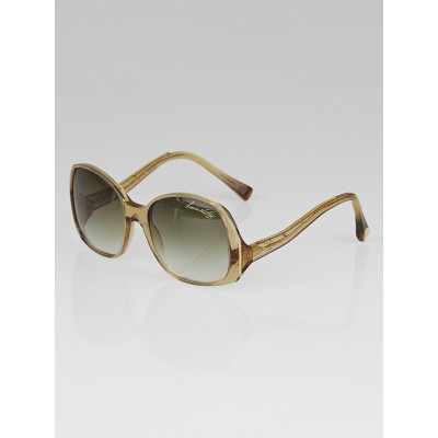 Louis Vuitton Gold Speckling Acetate Frame Gina Sunglasses