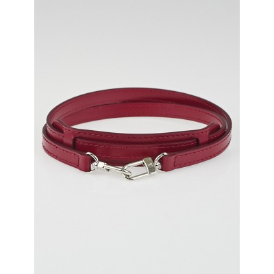 Louis Vuitton Fuchsia Leather 12mm Shoulder Strap