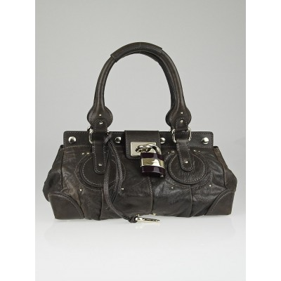 Chloe Moka Leather Plexo Paddington Medium Satchel Bag