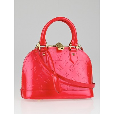 Louis Vuitton Rouge Grenadine Monogram Vernis Alma BB Bag