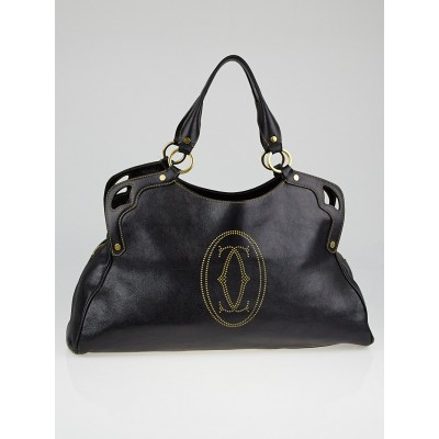 Cartier Black Cowhide Leather Medium Marcello de Cartier Bag