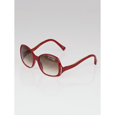 Louis Vuitton Red Speckling Acetate Frame Gina Sunglasses