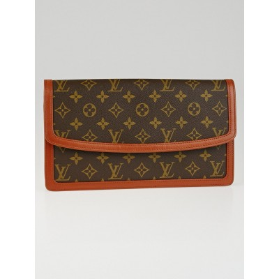 Louis Vuitton Monogram Canvas Pochette Dame GM Clutch Bag