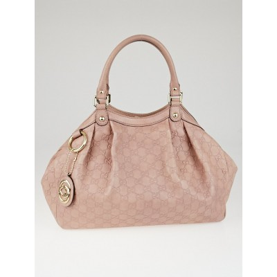 Gucci Pink Guccissima Leather Medium Sukey Tote Bag