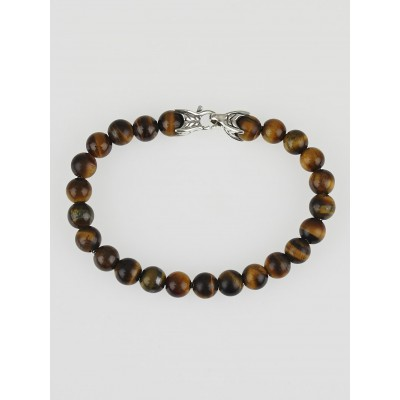 David Yurman 8mm Tiger's Eye Spiritual Beads Bracelet