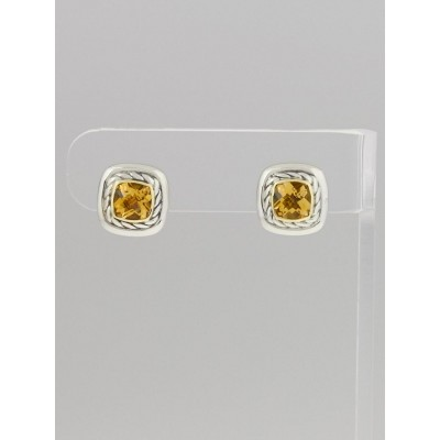 David Yurman 5mm Citrine Cable Classics Stud Earrings