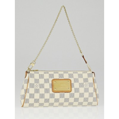 Louis Vuitton Damier Azur Canvas Eva Clutch Bag w/o Leather Strap