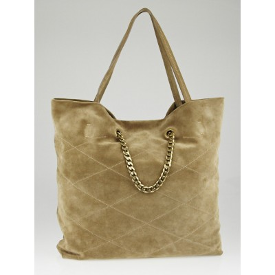 Lanvin Taupe Suede Carry Me Tote Bag