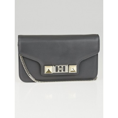 Proenza Schouler Heather Grey Smooth Calfskin Leather PS11 Wallet on a Chain Bag