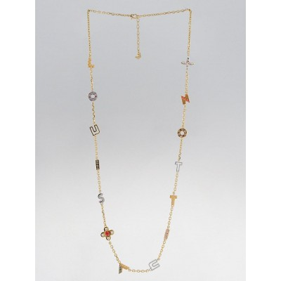 Louis Vuitton Multicolor Crustal Love Letter Timeless Long Necklace
