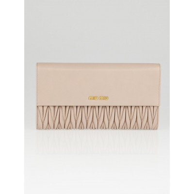Miu Miu Cammeo Matelasse Nappa Leather Clutch Bag 5M1403