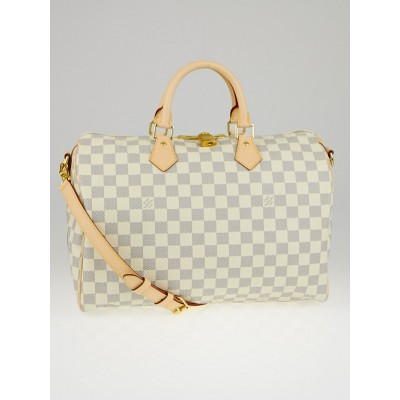 Louis Vuitton Damier Azur Canvas Speedy Bandouliere 35 Bag