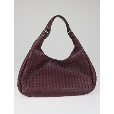 Bottega Veneta Opera Intrecciato Woven Nappa Leather Medium Campana Bag