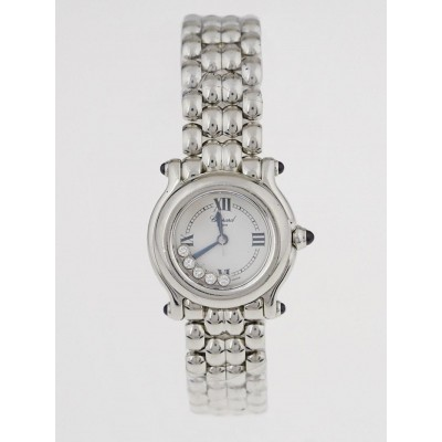 Chopard Stainless Steel Happy Sport 5 Floating Diamonds Watch