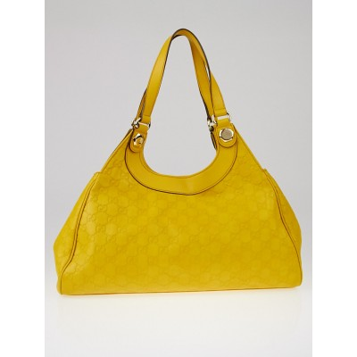 Gucci Yellow Guccissima Leather Charmy Hobo Bag