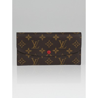 Louis Vuitton Monogram Canvas Red Emilie Wallet