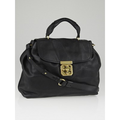 Chloe Black Leather Elsie Satchel Bag