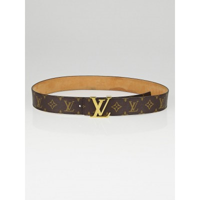 Louis Vuitton Monogram Canvas LV Initials Belt Size 90/36