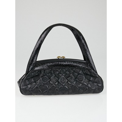 Louis Vuitton Limited Edition Black Alligator Monogram Vienna Sac Fermoir MM Bag