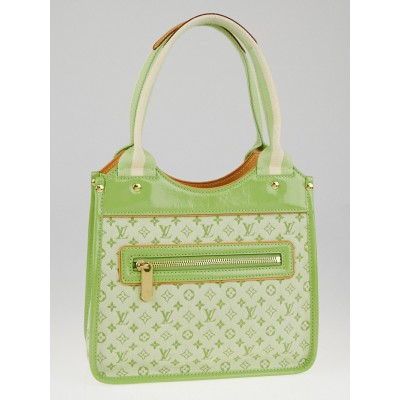 Louis Vuitton Lime Green Monogram Mini Lin Sac Kathleen Bag
