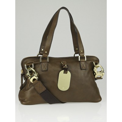 Mulberry Taupe Natural Smooth Leather East-West Shimmy Bag