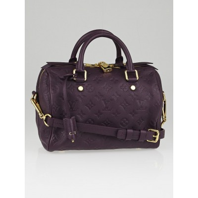 Louis Vuitton Aube Monogram Empreinte Speedy Bandouliere 25 Bag