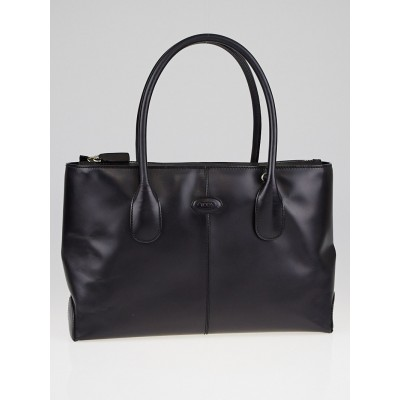 Tod's Black Leather D-Styling Small Shopping Tote Bag