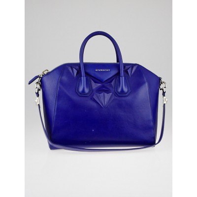 Givenchy Royal Blue Calfskin Leather 3D Stud Medium Antigona Bag