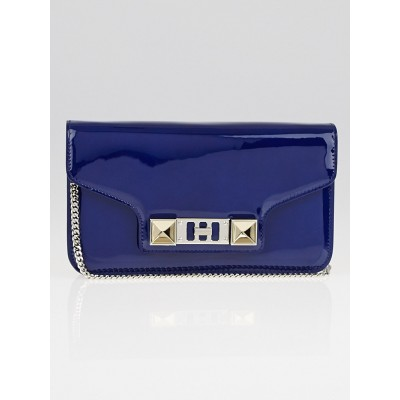 Proenza Schouler Cadet Blue Patent Leather PS11 Wallet on a Chain Bag
