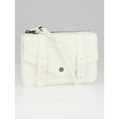 Proenza Schouler White Leather PS1 Crossbody Wallet Bag