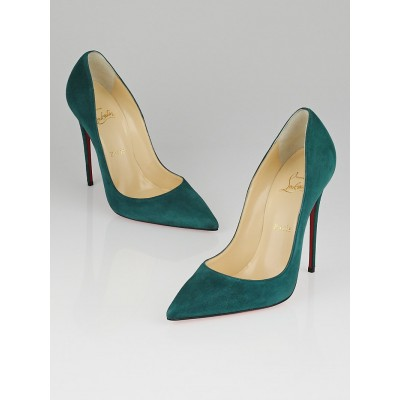 Christian Louboutin Forest Suede So Kate 120 Pumps Size 8.5/39