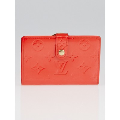 Louis Vuitton Orange Sunset Monogram Vernis Port Feuille Vienoise French Purse Wallet