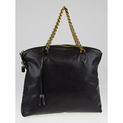 Louis Vuitton Black Cuir Boudoir Leather Lockit Chain Bag