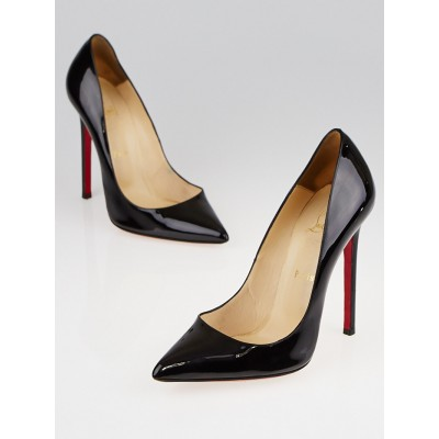 Christian Louboutin Black Patent Leather Pigalle 120 Pumps Size 9.5/40